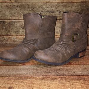 Dirty Laundry Cognac Brown Bootie